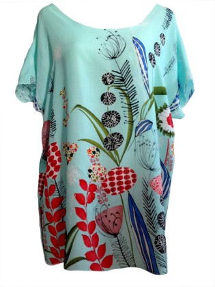 Shirt Blumen Oversized