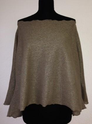 pullover khaki langer Arm schulterfrei
