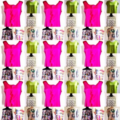 Shirts Blusen pink gruen muster verschiedene dessins