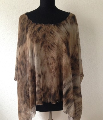 shirt tunika animalprint beige braun